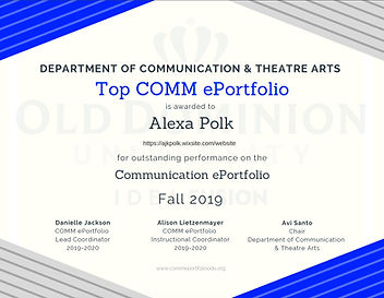 Alexa Polk Top Fall 2019 eP Winner CERT.