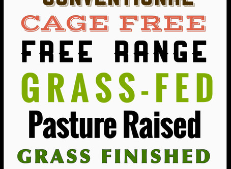 Free Range, Grass-fed, Pasture Raised..... Making Sense of Confusing Consumer Labels.