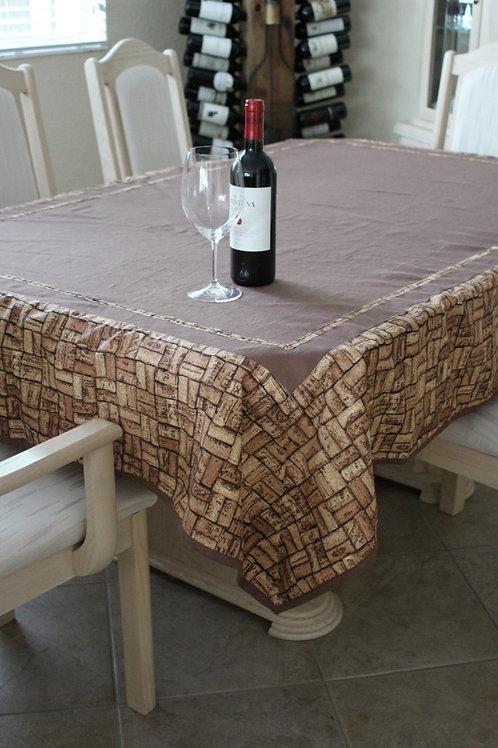 Linen/Wine Cork Table Cloth