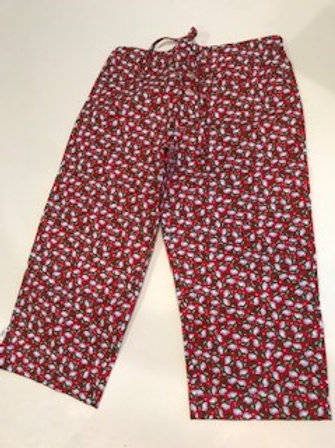 Red Snowman Childs Pj pants