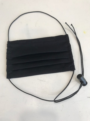 Pleated with adjustable cords
