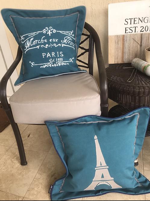 Paris Outdoor Throw Pillows