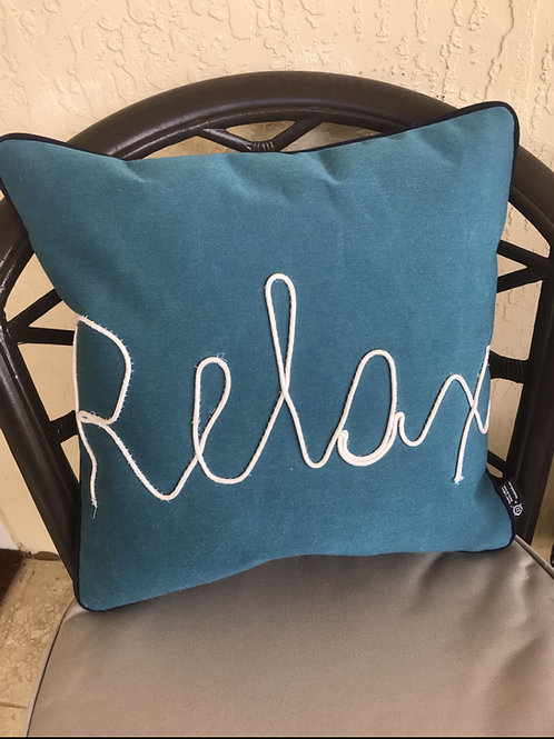 Relax Rope Outdoor Throw Pillow