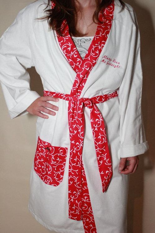 Always Kiss me Goodnight Flannel Womens Robe