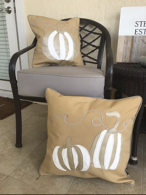 Pumpkin Fall Outdoor Throw Pillow