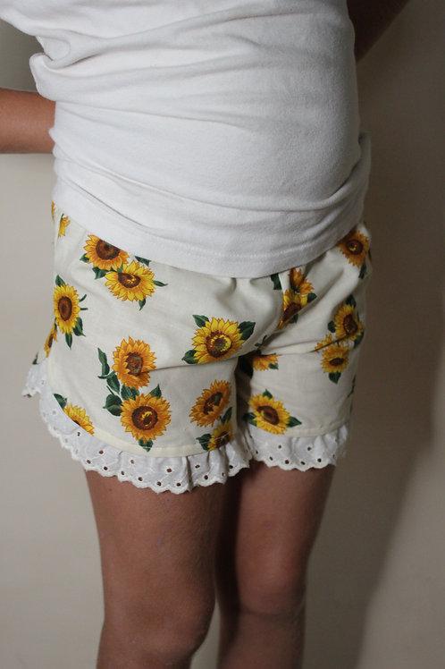 Sunflower Ruffle Shorts