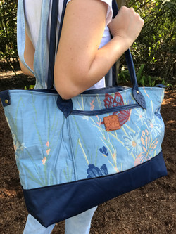 Cloth and Leather Tote