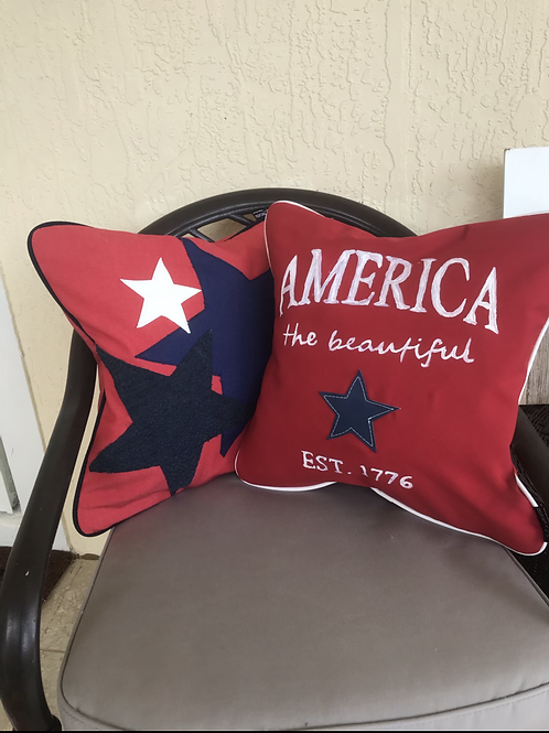 Patriotic Outdoor Throw pillows