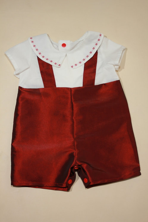 Baby Boy Christmas Collared 1 Piece