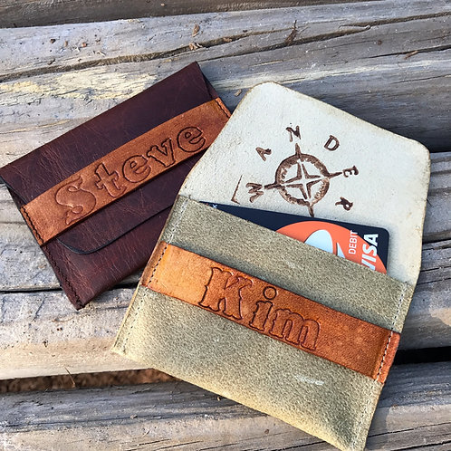 Leather Wallet Business Card Holder