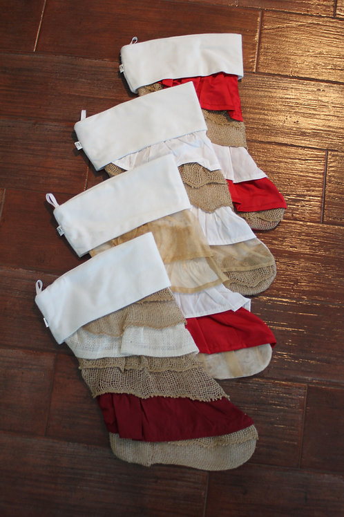 Burlap Ruffle Stocking