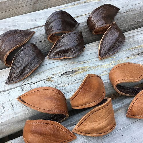 Leather Leaf Reversible Adjustable Napkin Holders