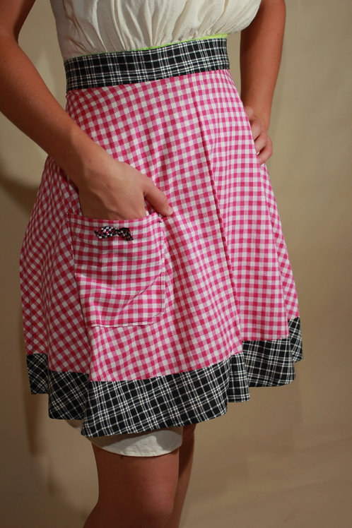 Womens Pink Gingham apron