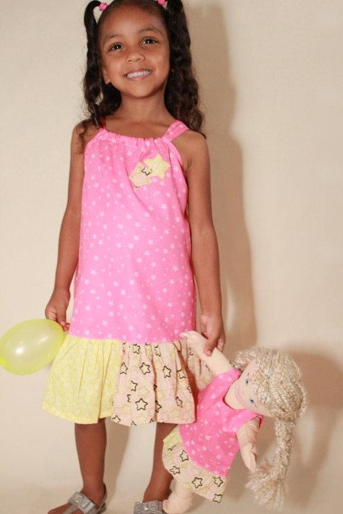 Pink Star Tunic Dress