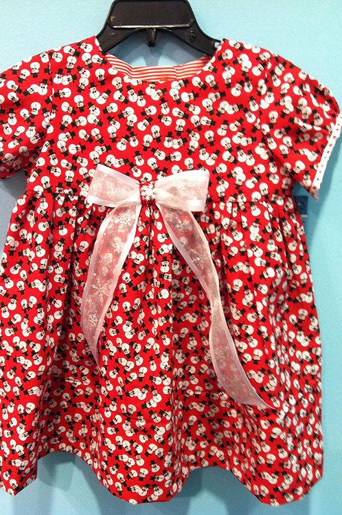 Red Snowman Dress