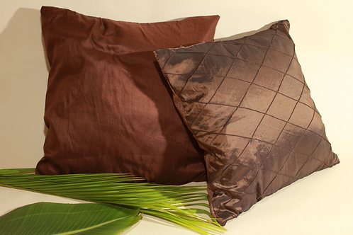 Brown Silky Throw Pillow Covers