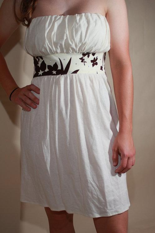 Womens Knit Ivory Dress with gems
