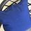 Thumbnail: Grey and Blue Outdoor Throw Pillow