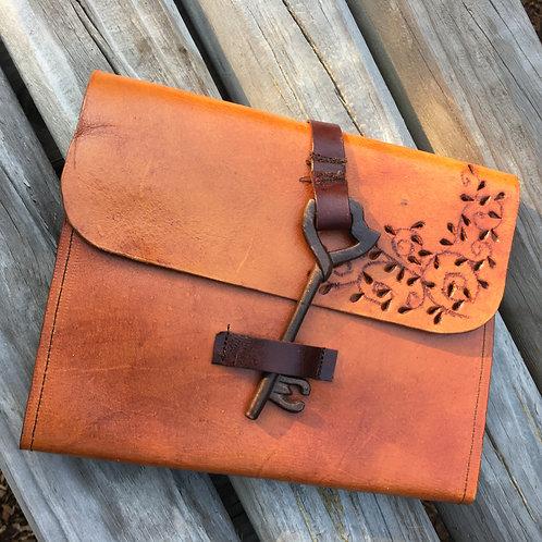 Small Leather Portfolio Ipad Mini Holder