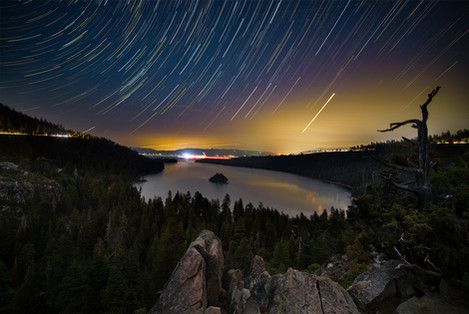 Busy Night Over Lake Tahoe