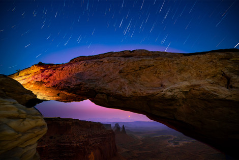Sunrise Under Mesa Arch
