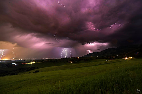 Electric Night Over the Gallatin Valley