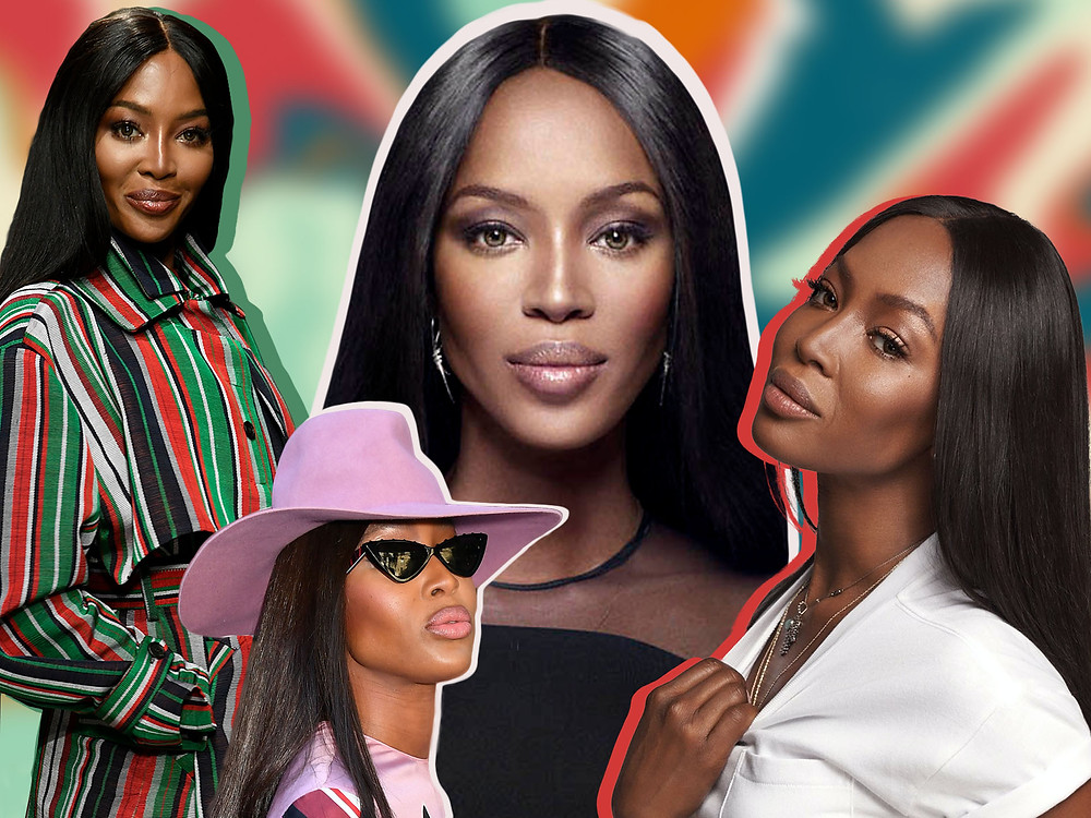 Collage of Naomi Campbell
