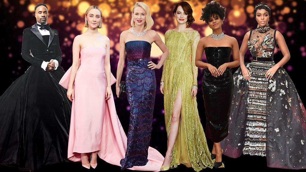 Billy Porter (2019), Saoirse Ronan (2018), Naomi watts (2016), Emma stone (2015), Zazie beets (2020) and Janelle Monae (2017)