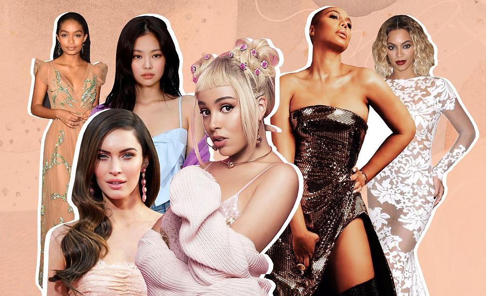 Yara Shahidi, Megan Fox, Jennie Kim, Doja Cat, Tamar Braxton and Beyoncé Knowles