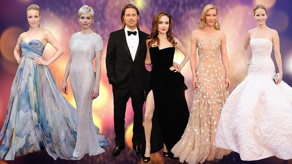 Rachel McAdams (2010), Michelle Williams (2011), Brad Pitt (2012), Angelina Jolie (2012), Kate Blanchett (2014) and Jennifer Lawrence (2013).