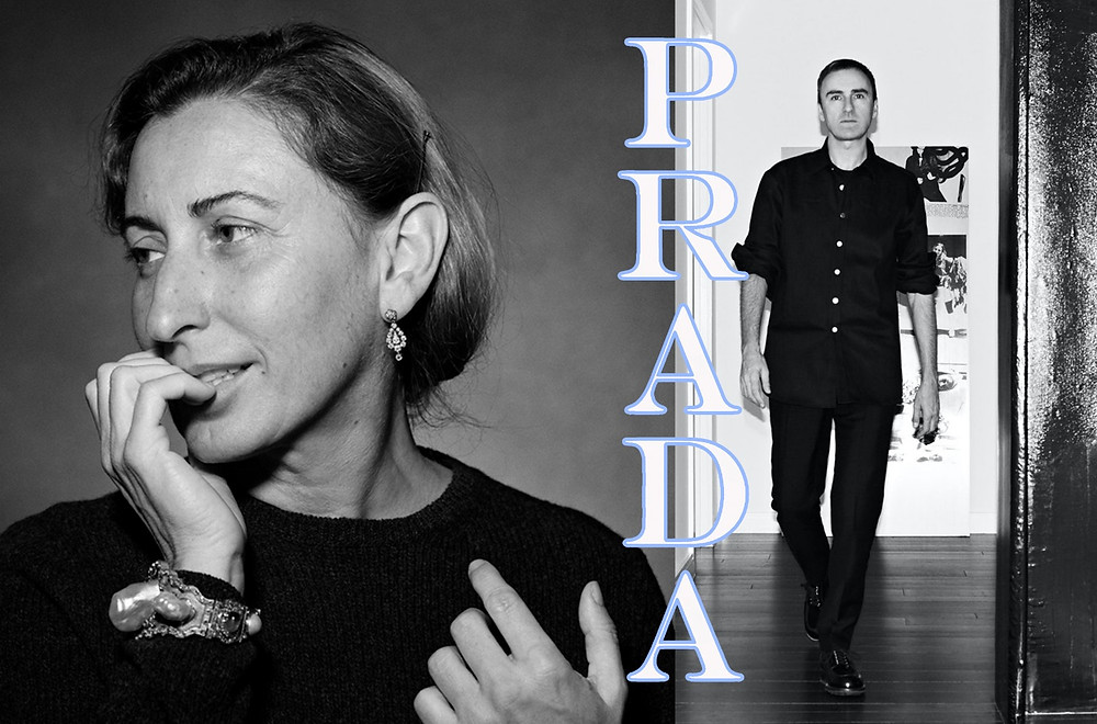 Miuccia Prada and Raf Simmons