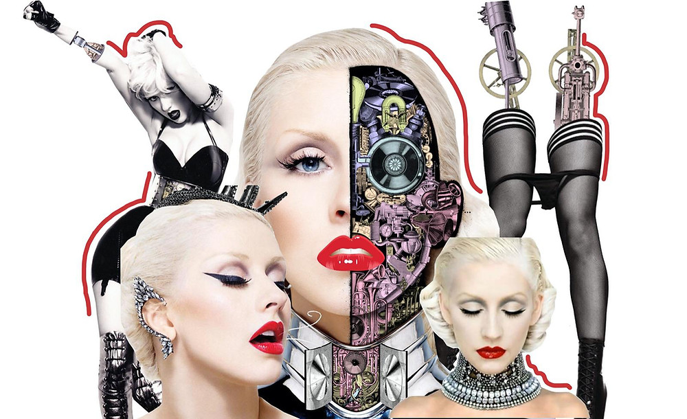 Collage of Christina Aguilera from Bionic Album