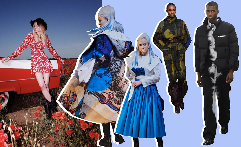 Collage of our weekend highlights from London Fashion Week