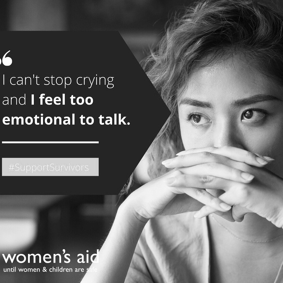 Women's Aid poster on domestic violence #supportsurvivors