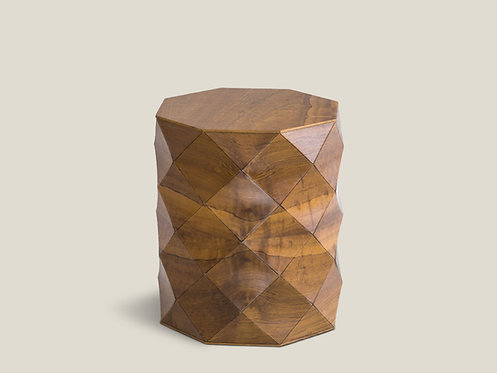 Diamond Wood Emboya Stool
