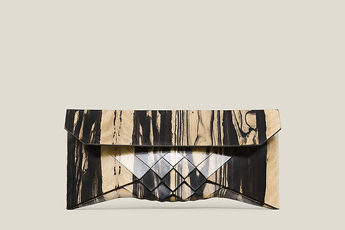 Pale Moon wood clutch
