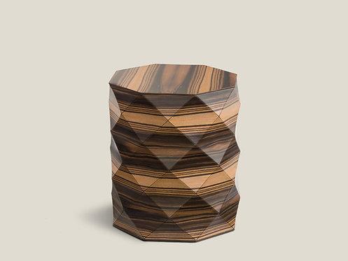 Diamond Wood small Ebony side table