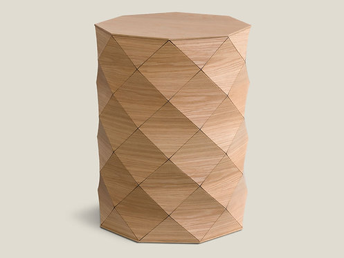 Diamond Wood Oak High Table