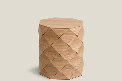 Diamond Wood Oak Stool