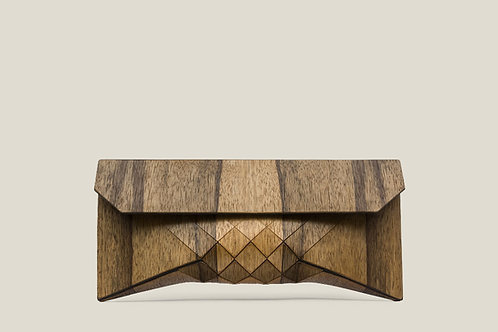 African wood clutch
