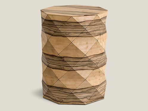 Diamond Wood African Walnut High Table