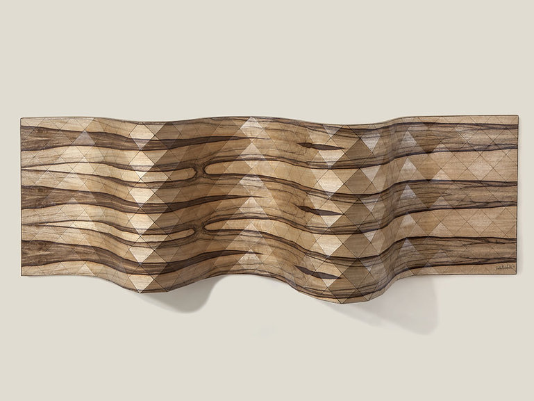 3D WOOD TEXTILE WALL SCULPTURE