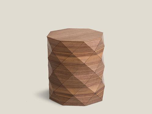 Diamond Wood American Walnut Stool