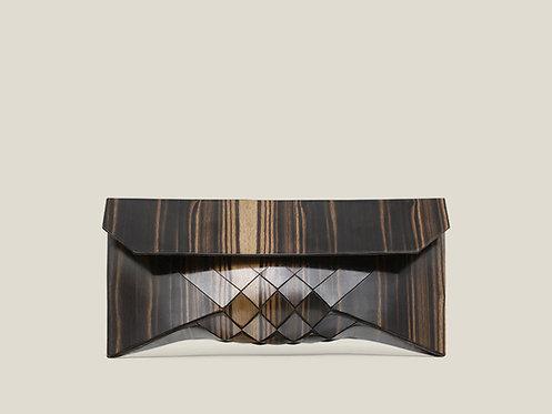 Macassar Ebony wood clutch