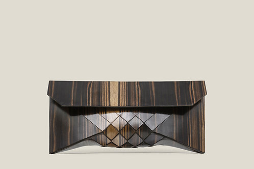 Macassar Ebony wood clutch
