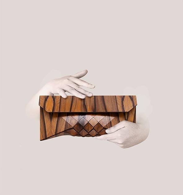 Rose wood clutch, wood purse, wood bag, wooden bag, wood purse, wooden-textiles, wood textiles