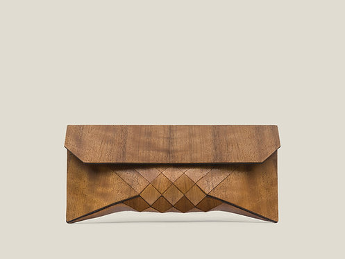 Emboya wood clutch