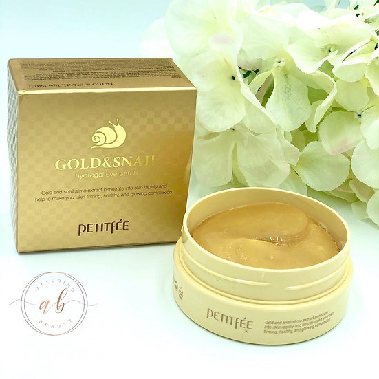PETITFEE  Gold & Snail Hydrogel Eye Patch 60pcs