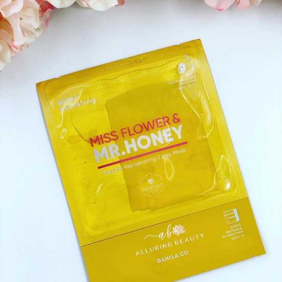 BANILA CO Miss Flower & Mr. Honey Propolis Rejuvenating 2 Step Mask