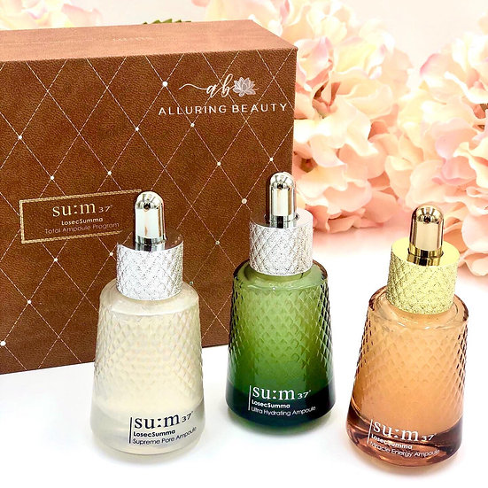 SU:M37 Ampoule Set: Supreme Pore, Miracle Energy, Ultra Hydrating
